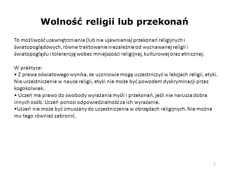 Wolność religii lub przekonań