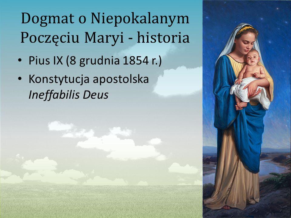 Dogmat o Niepokalanym Poczęciu Maryi - historia