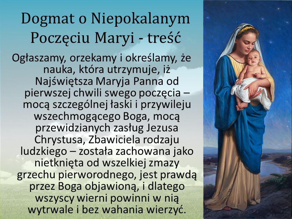 Dogmat o Niepokalanym Poczęciu Maryi - treść
