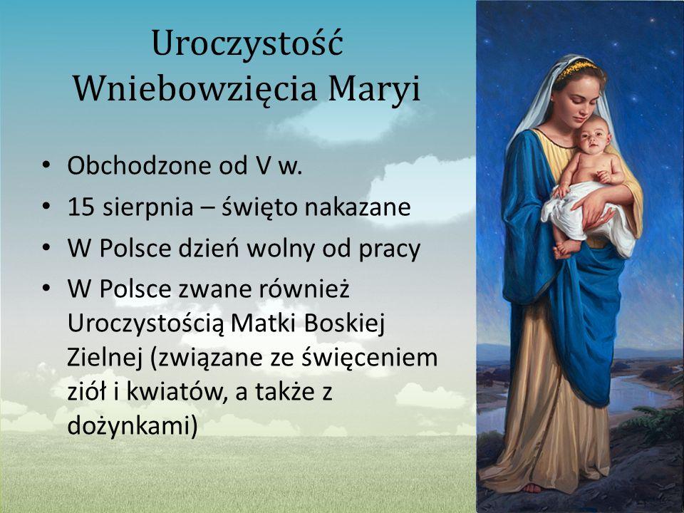Uroczystość Wniebowzięcia Maryi