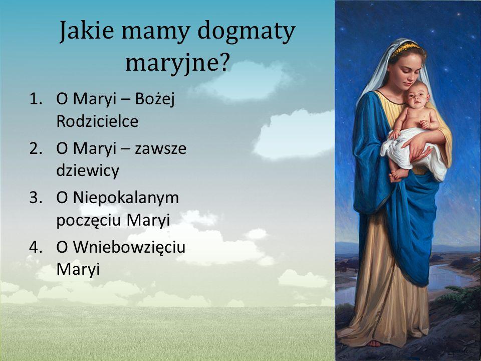 Jakie mamy dogmaty maryjne