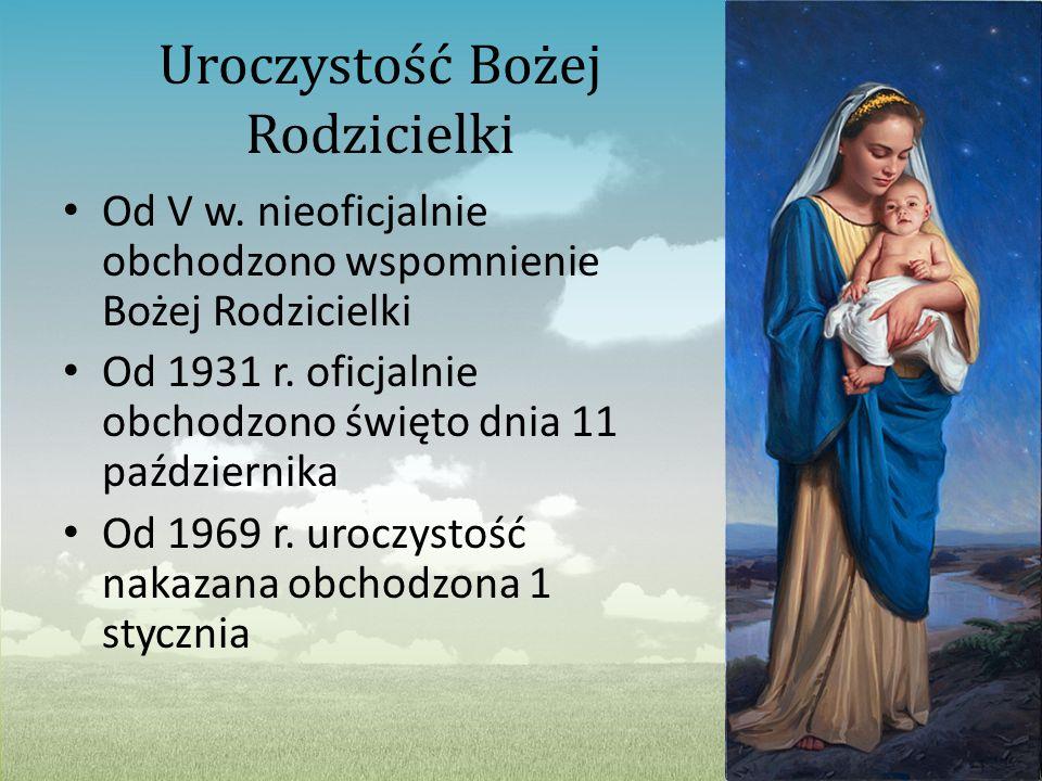 Uroczystość Bożej Rodzicielki