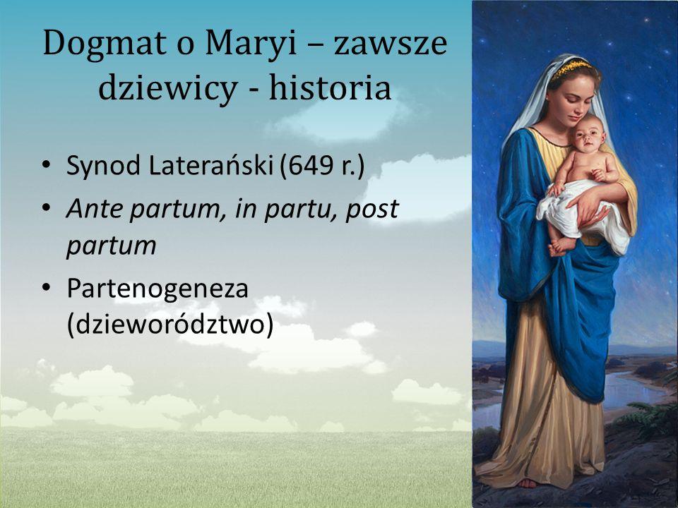 Dogmat o Maryi – zawsze dziewicy - historia