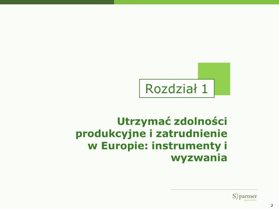 Rozdział 1 Utrzymać zdolności produkcyjne i zatrudnienie w Europie: instrumenty i wyzwania