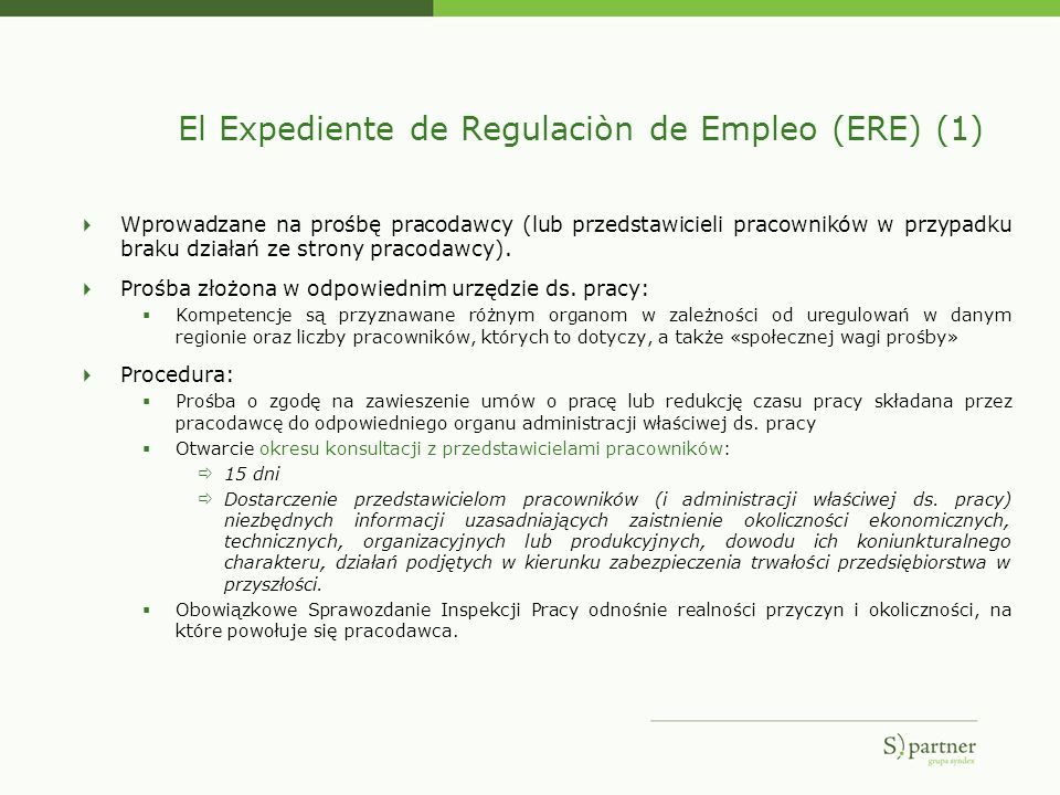 El Expediente de Regulaciòn de Empleo (ERE) (1)