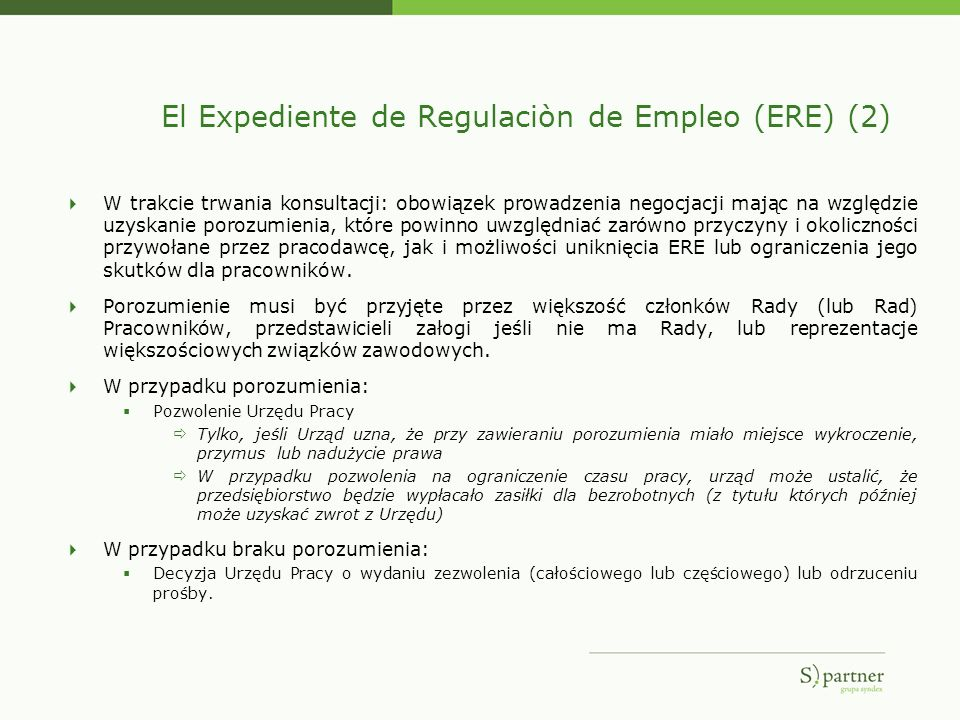 El Expediente de Regulaciòn de Empleo (ERE) (2)