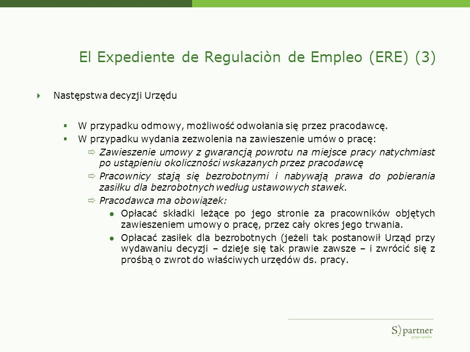 El Expediente de Regulaciòn de Empleo (ERE) (3)