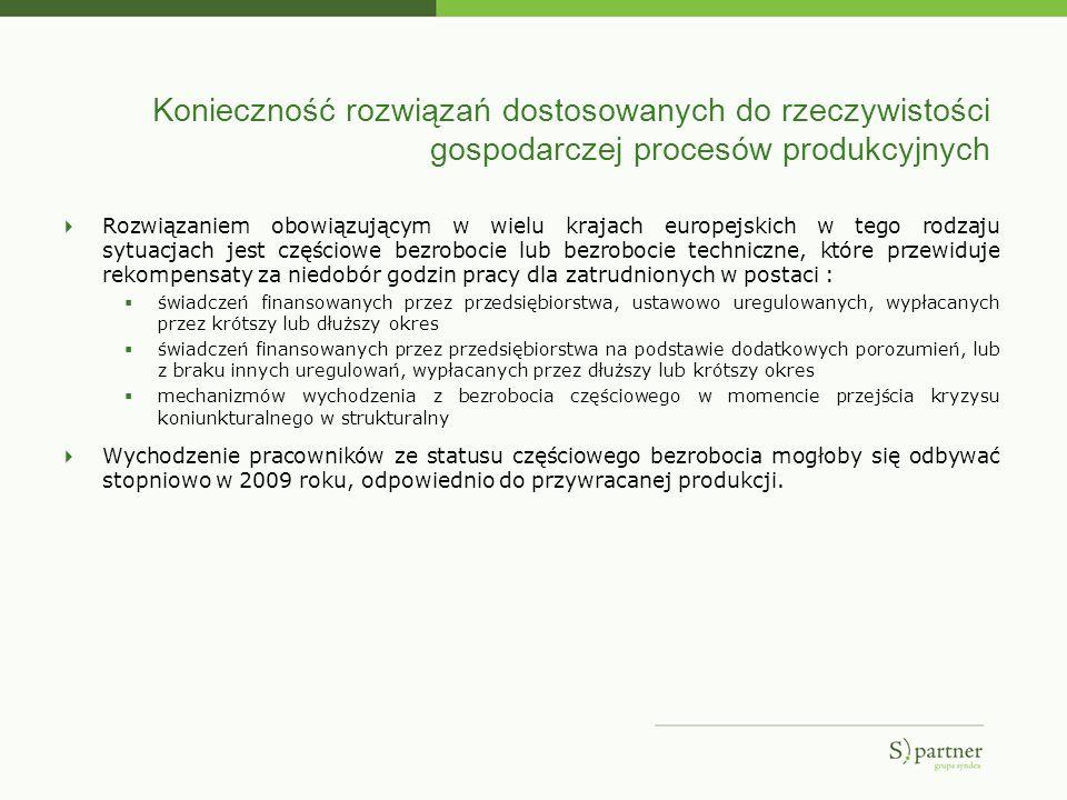 Konieczność rozwiązań dostosowanych do rzeczywistości gospodarczej procesów produkcyjnych