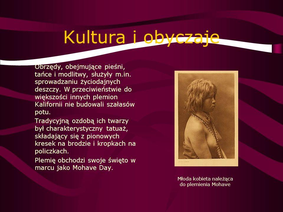 Młoda kobieta należąca do plemienia Mohave