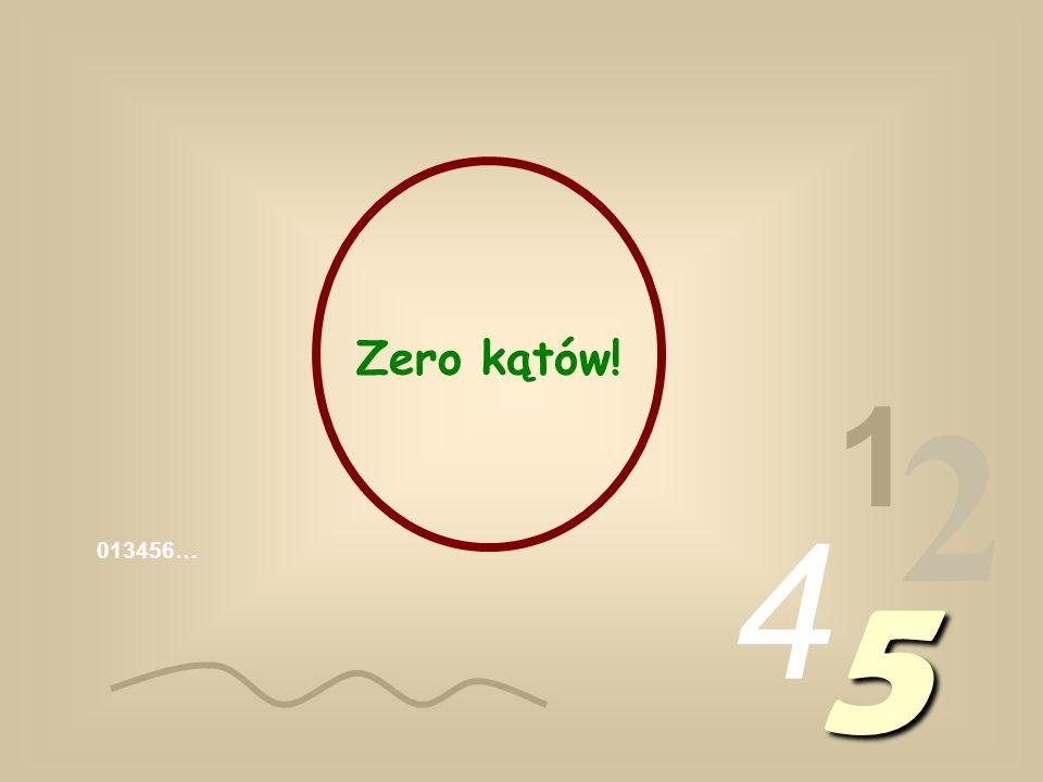 Zero kątów! 1 2 4 013456… 5