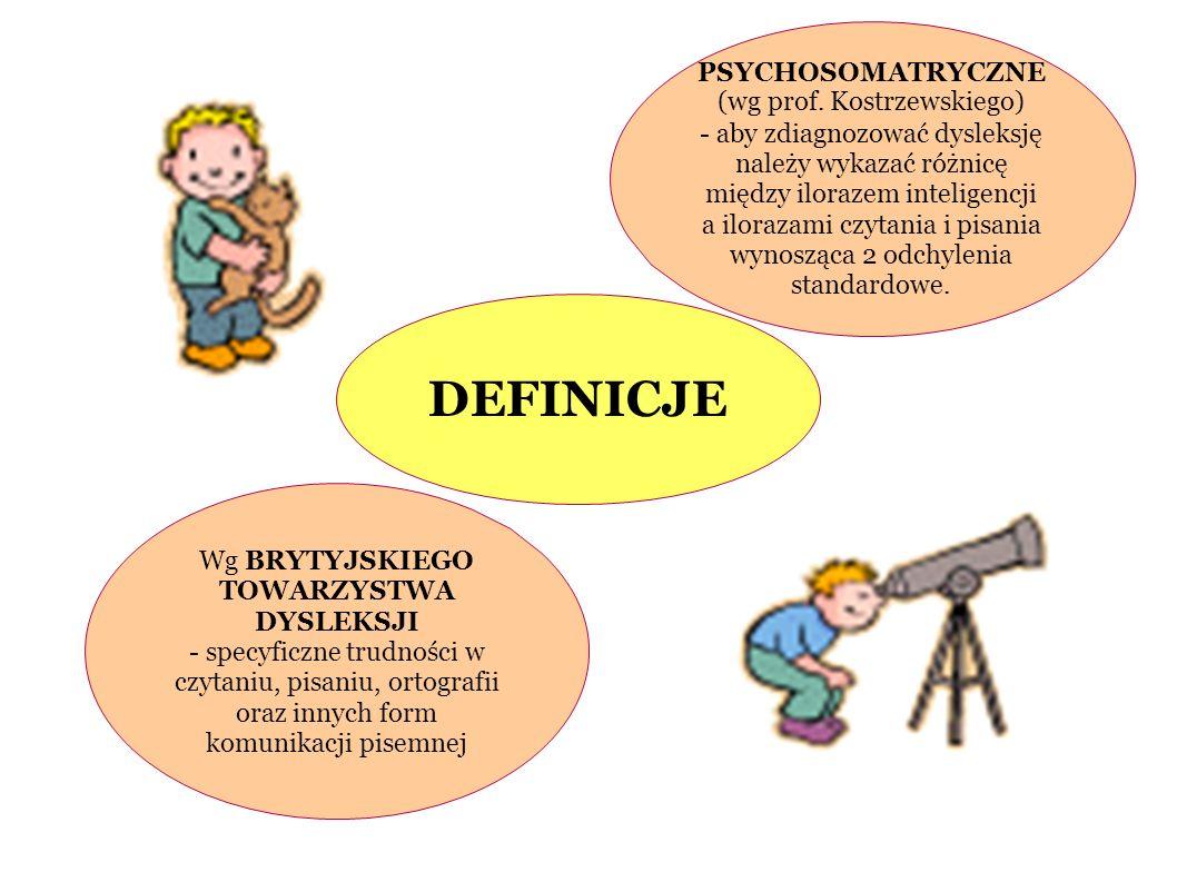 DEFINICJE PSYCHOSOMATRYCZNE (wg prof. Kostrzewskiego)