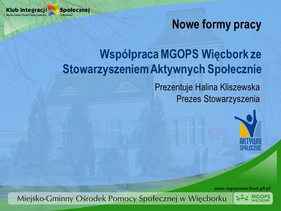 Współpraca MGOPS Więcbork ze Stowarzyszeniem Aktywnych Społecznie