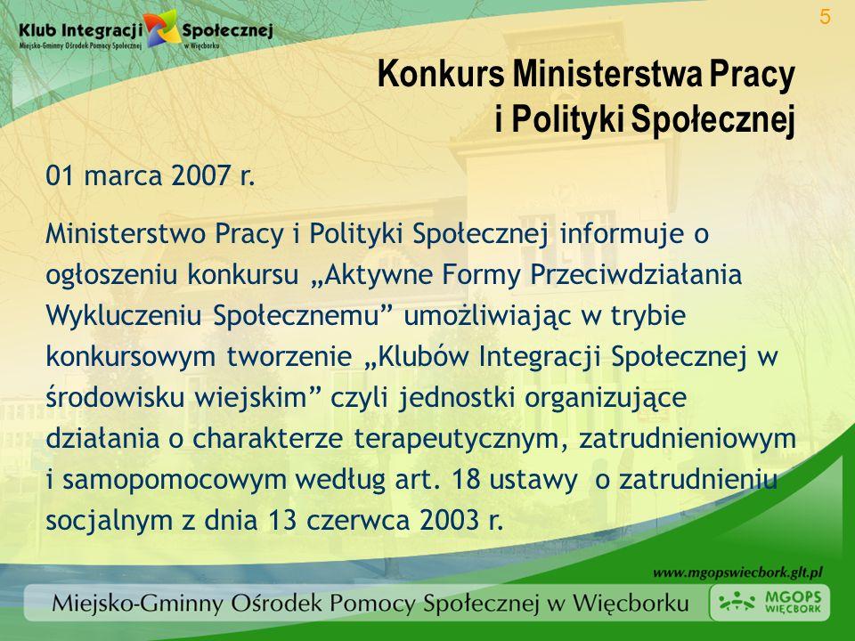 Konkurs Ministerstwa Pracy i Polityki Społecznej