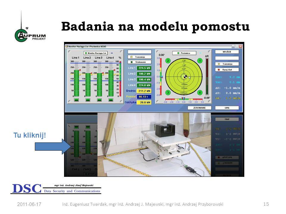 Badania na modelu pomostu