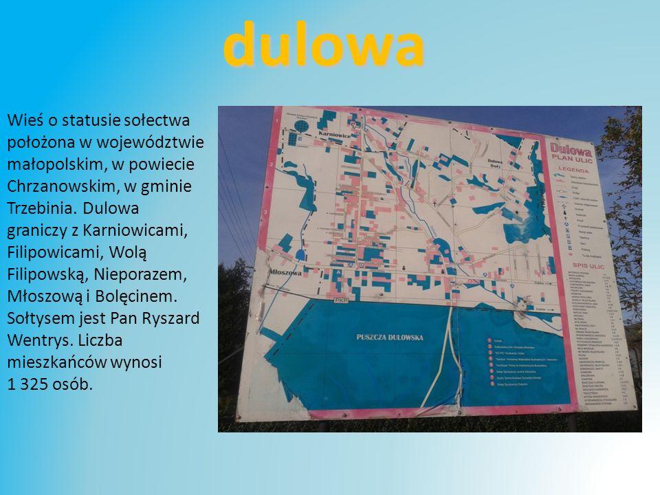 dulowa Wieś o statusie sołectwa położona w województwie
