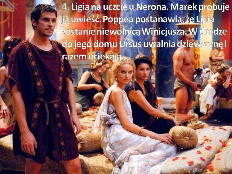 4. Ligia na uczcie u Nerona. Marek próbuje ją uwieść