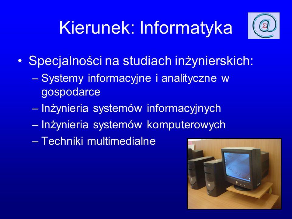 Kierunek: Informatyka