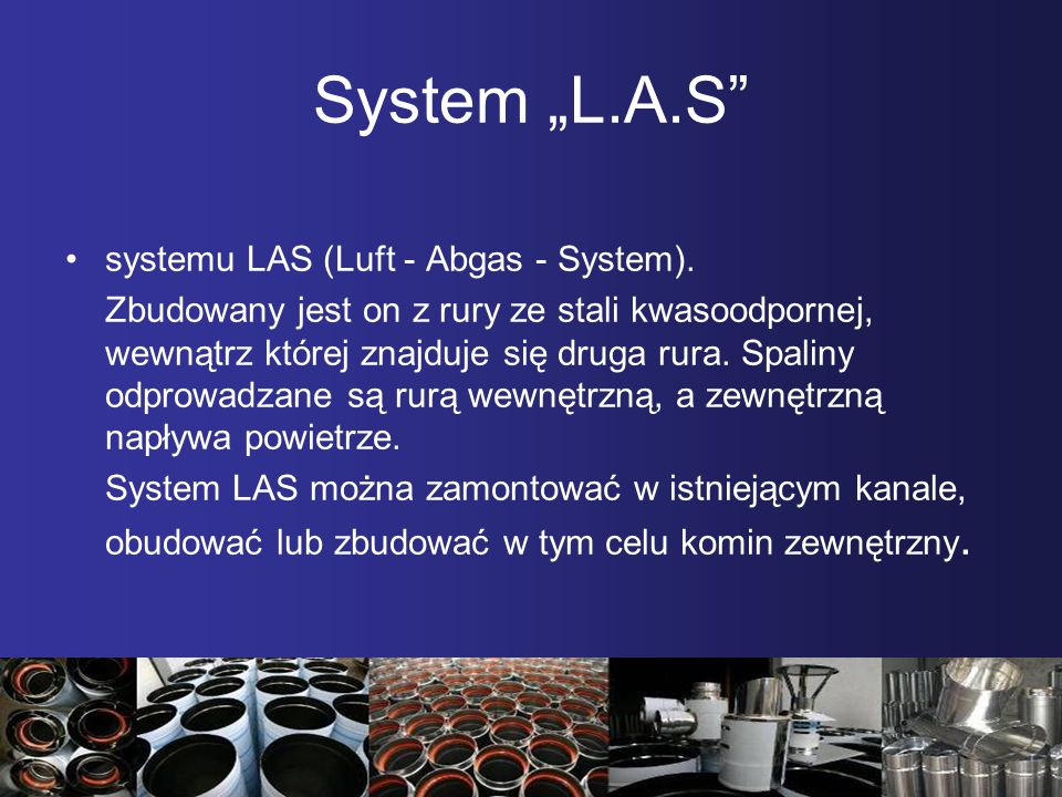 "System ""L.A.S systemu LAS (Luft - Abgas - System)."