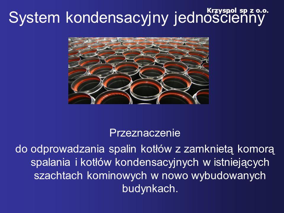 System kondensacyjny jednościenny