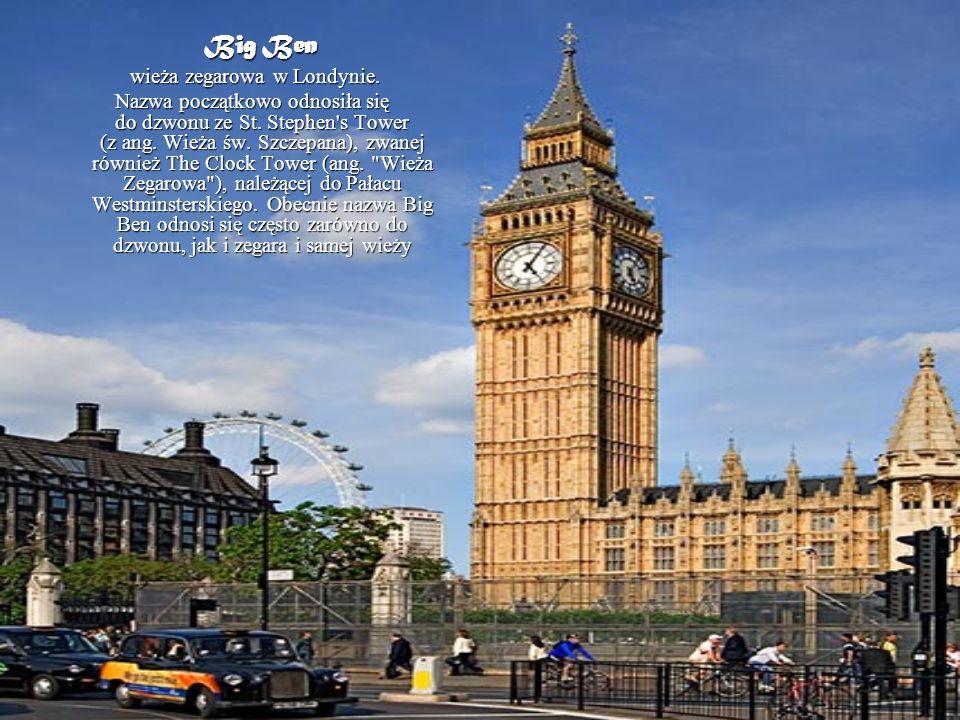 wieża zegarowa w Londynie.