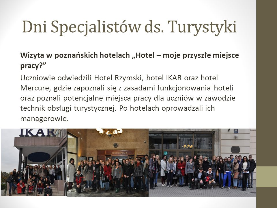 Dni Specjalistów ds. Turystyki