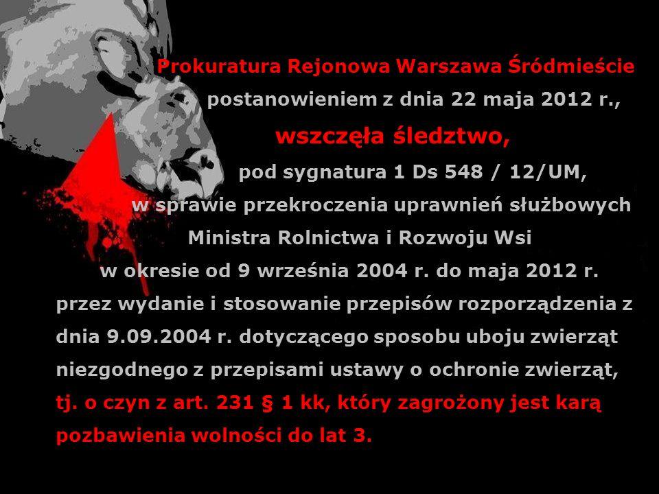 wszczęła śledztwo, Prokuratura Rejonowa Warszawa Śródmieście