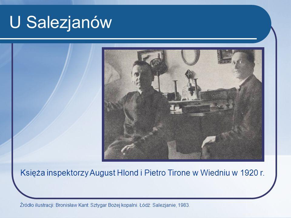 U Salezjanów Księża inspektorzy August Hlond i Pietro Tirone w Wiedniu w 1920 r.