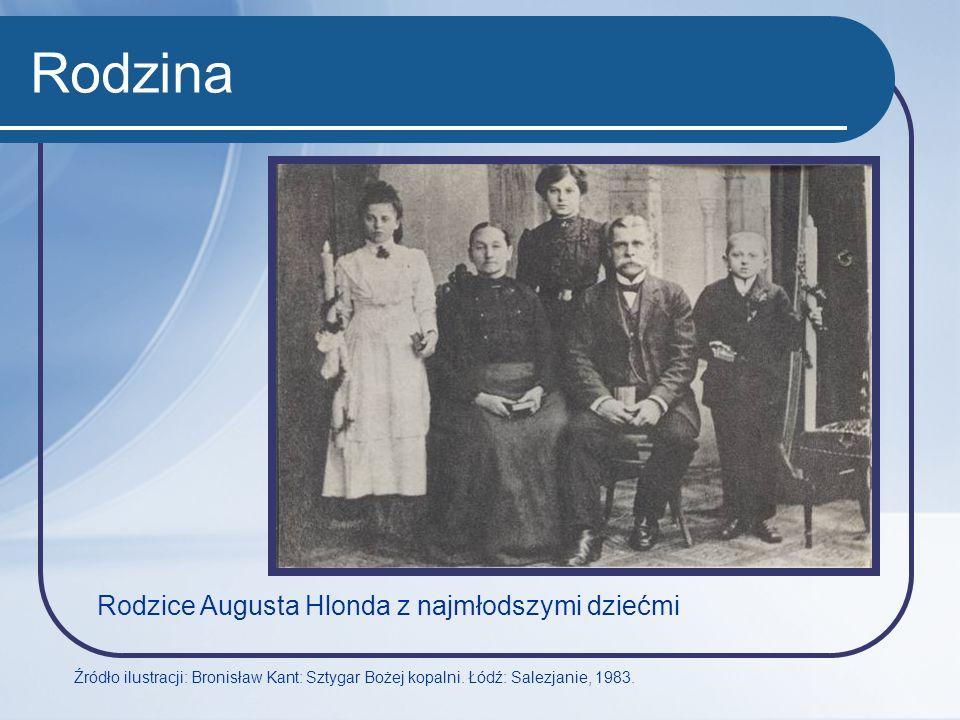 Rodzina Rodzice Augusta Hlonda z najmłodszymi dziećmi