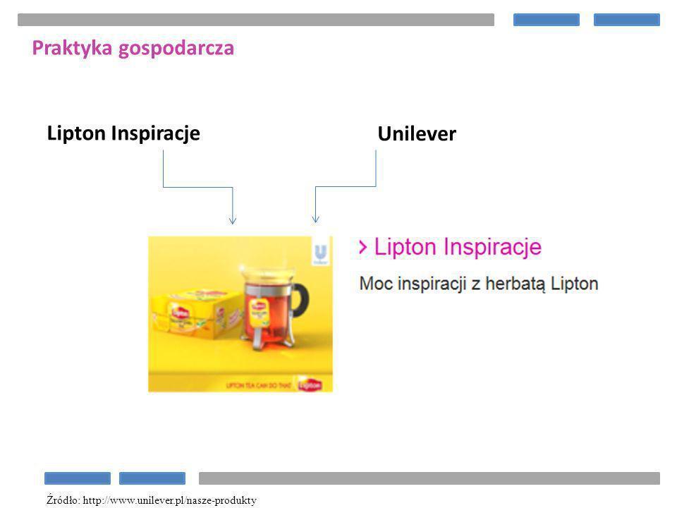 Praktyka gospodarcza Lipton Inspiracje Unilever