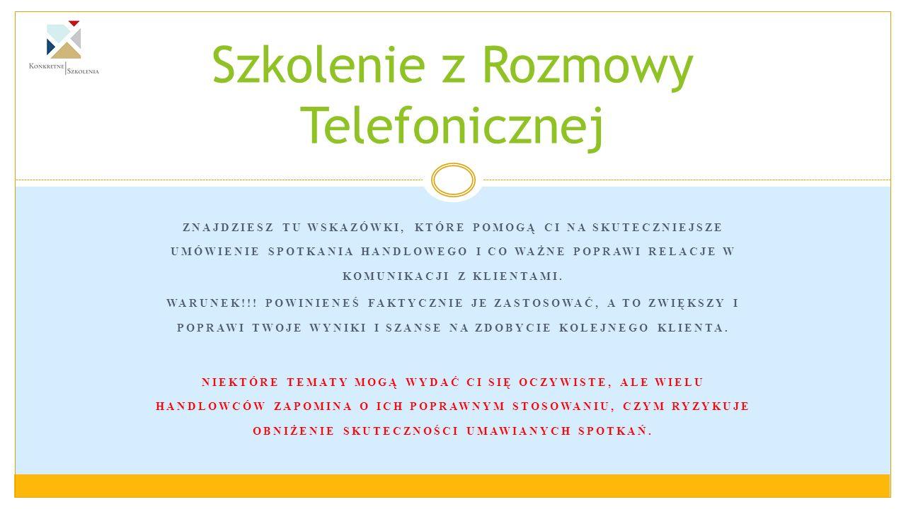 Szkolenie z Rozmowy Telefonicznej