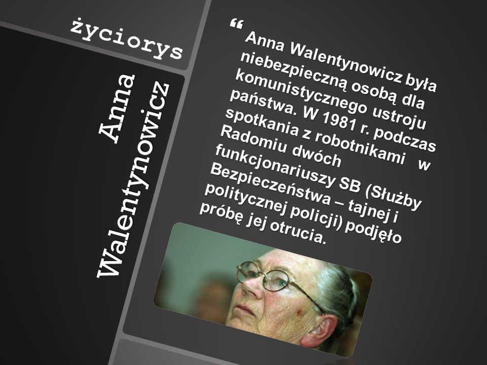 Anna Walentynowicz życiorys