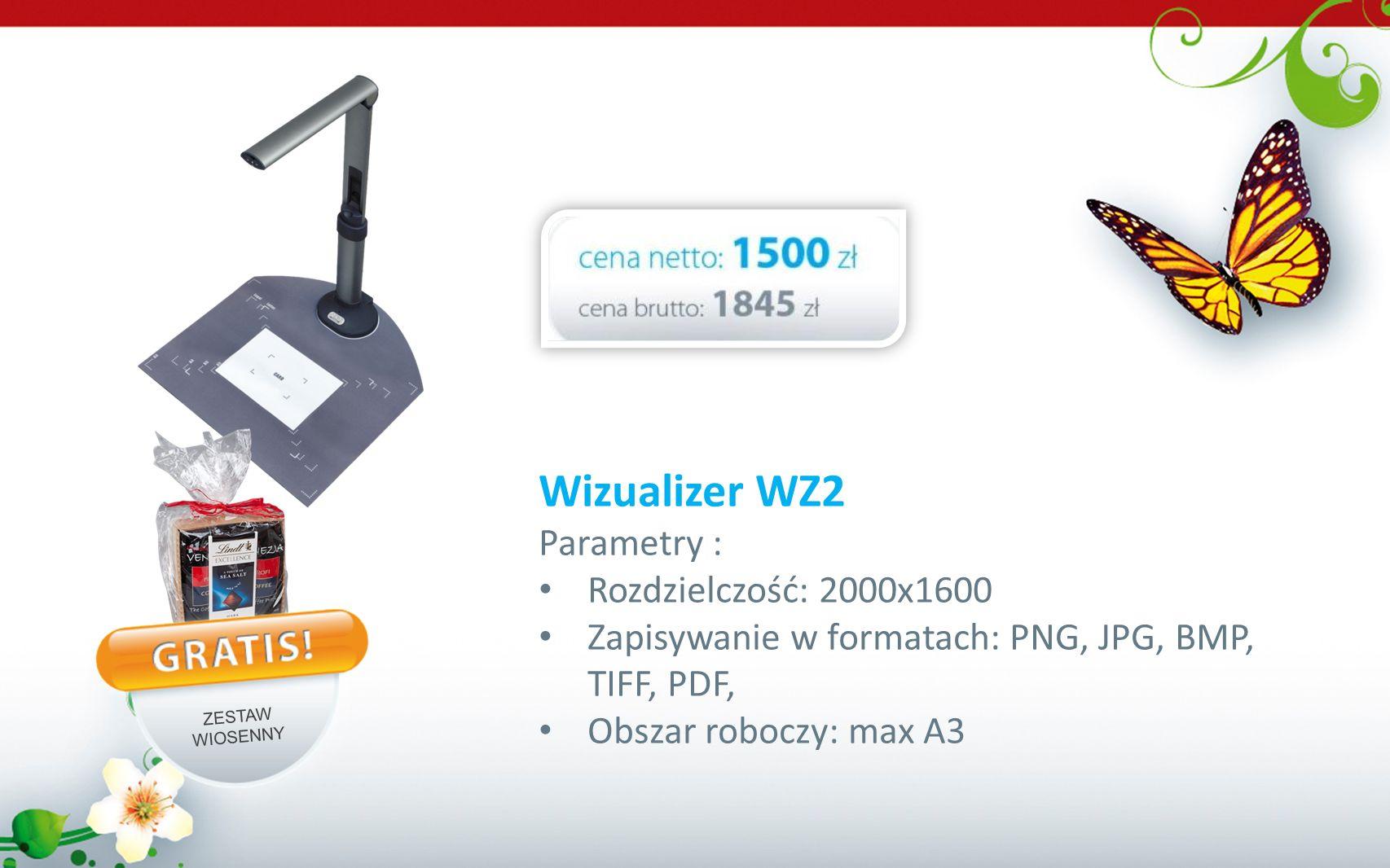 Wizualizer WZ2 Parametry : Rozdzielczość: 2000x1600