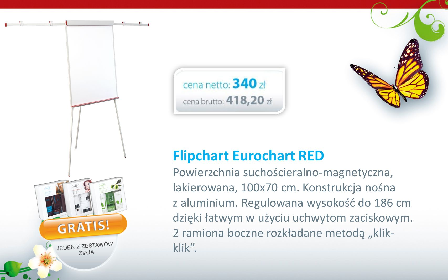 Flipchart Eurochart RED
