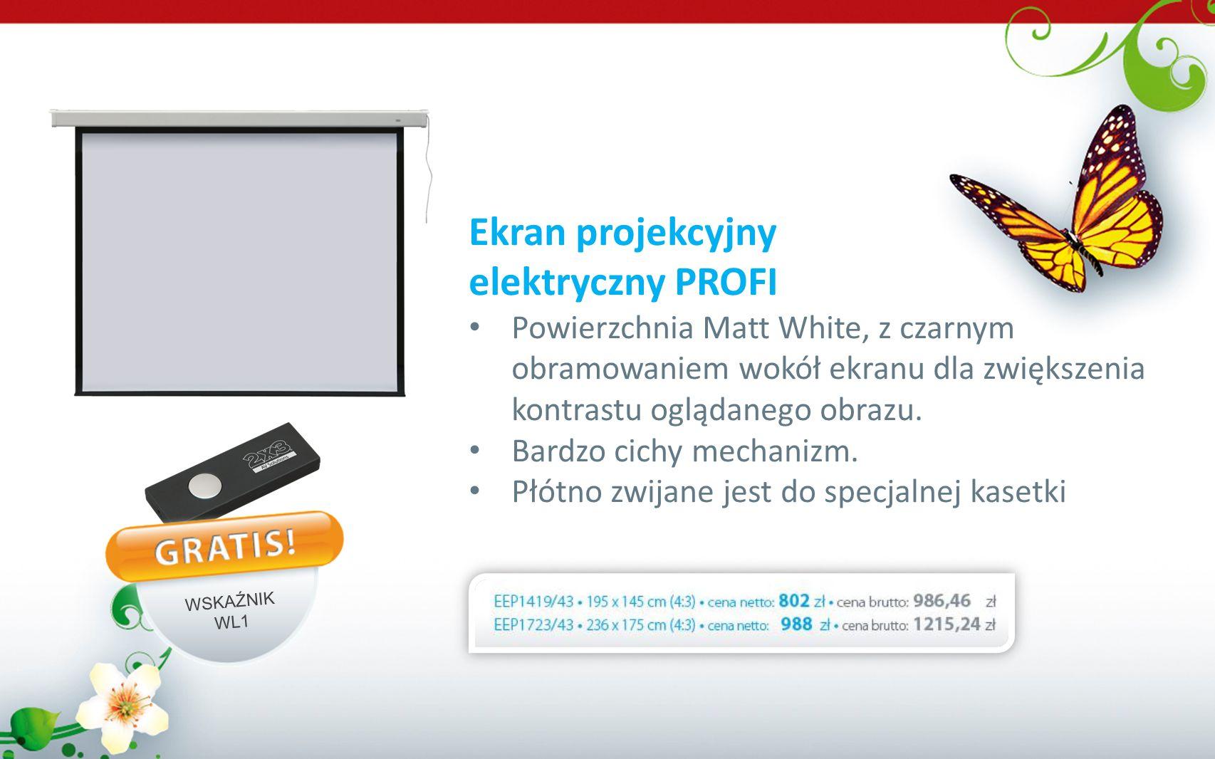 Ekran projekcyjny elektryczny PROFI