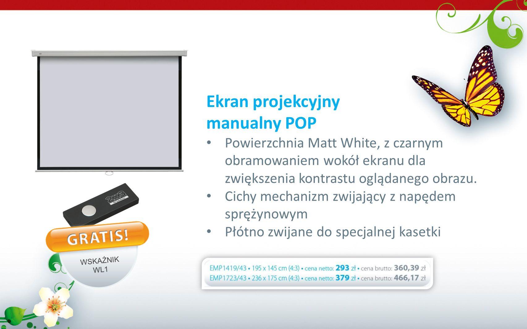 Ekran projekcyjny manualny POP