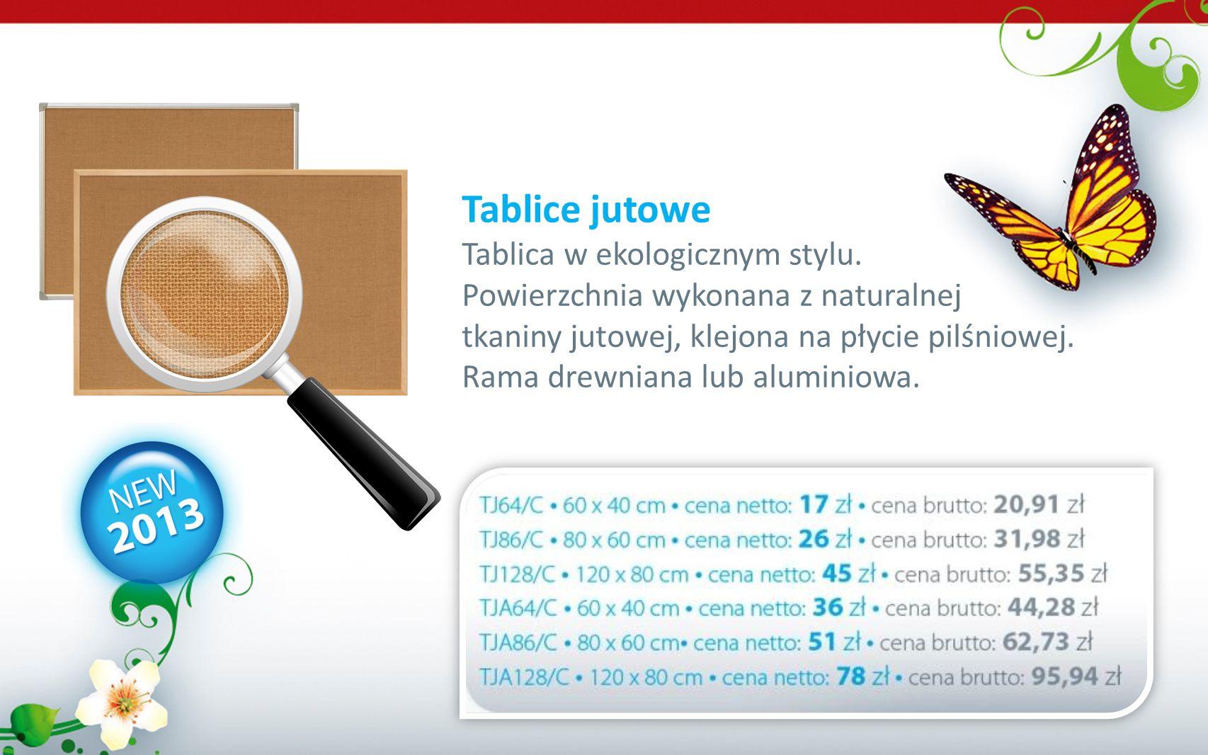 Tablice jutowe Tablica w ekologicznym stylu.