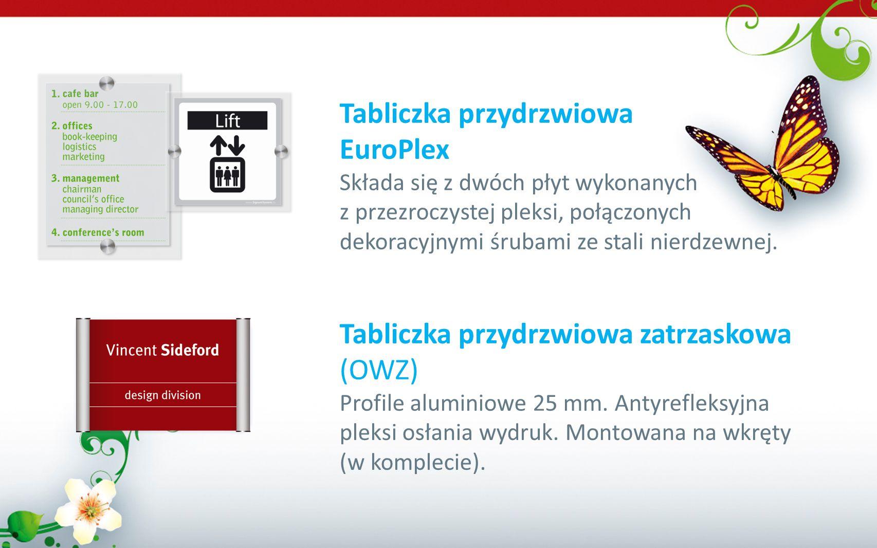 Tabliczka przydrzwiowa EuroPlex