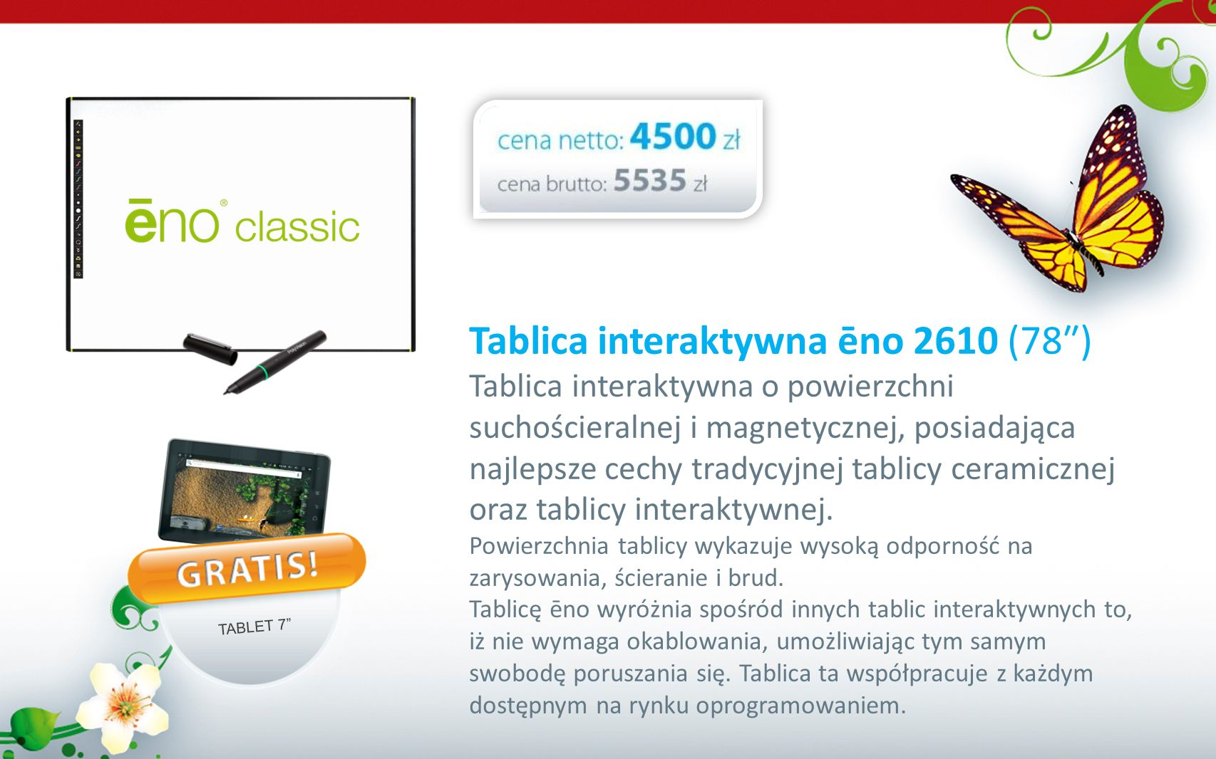 Tablica interaktywna ēno 2610 (78″)