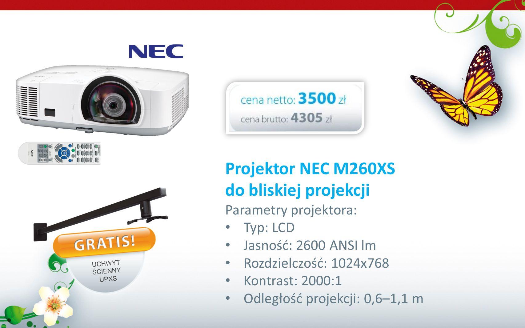 Projektor NEC M260XS do bliskiej projekcji