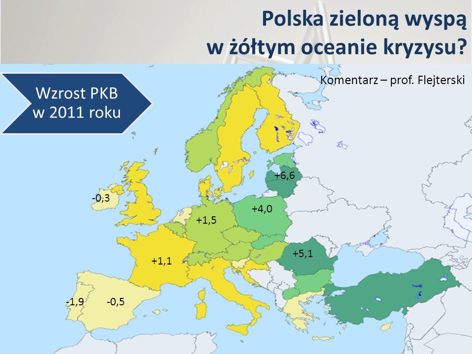 Polska zieloną wyspą w żółtym oceanie kryzysu