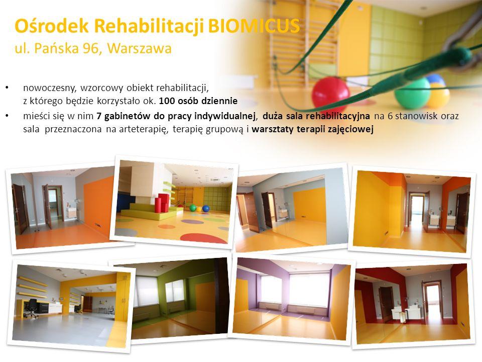Ośrodek Rehabilitacji BIOMICUS ul. Pańska 96, Warszawa