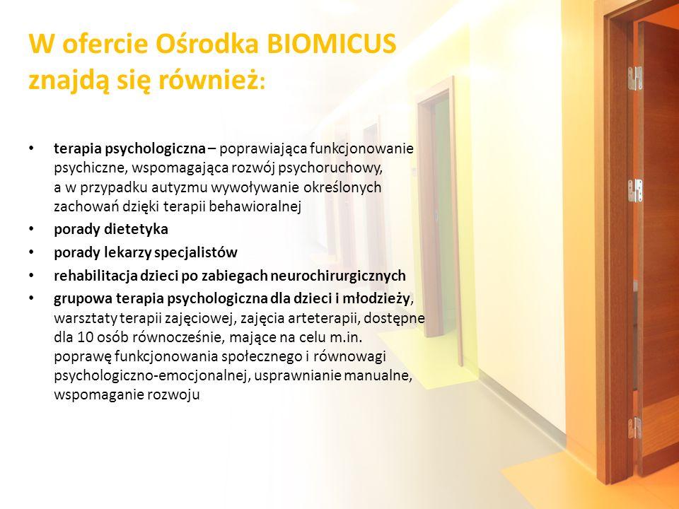 W ofercie Ośrodka BIOMICUS znajdą się również: