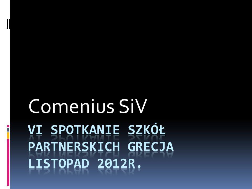 Vi Spotkanie szkół partnerskich Grecja listopad 2012r.