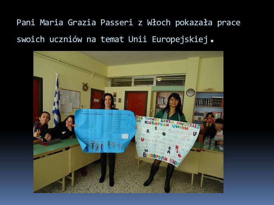 Pani Maria Grazia Passeri z Włoch pokazała prace swoich uczniów na temat Unii Europejskiej.