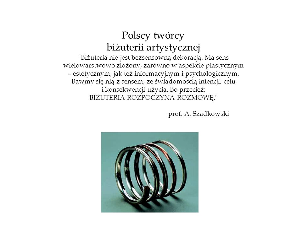 biżuterii artystycznej