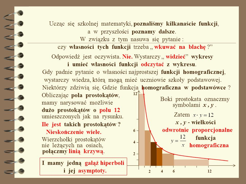 Ucząc się szkolnej matematyki, poznaliśmy kilkanaście funkcji,