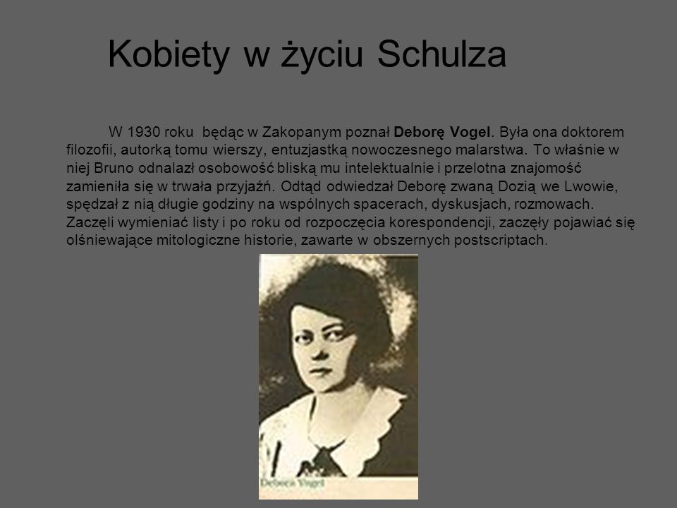 Kobiety w życiu Schulza