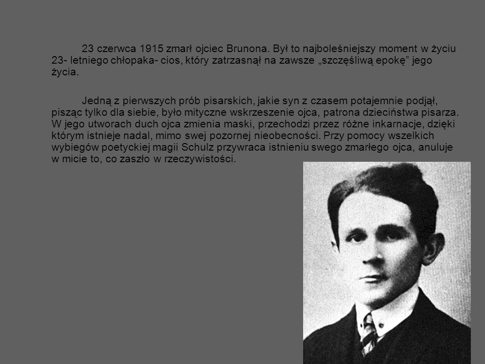 23 czerwca 1915 zmarł ojciec Brunona