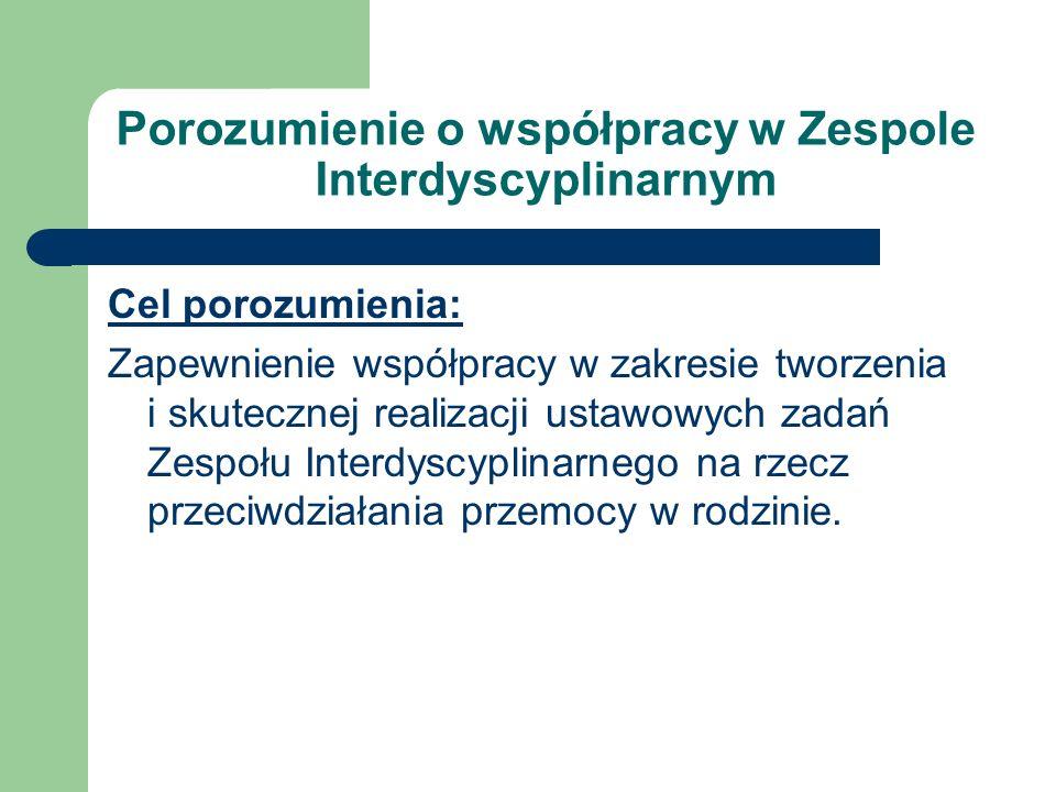 Porozumienie o współpracy w Zespole Interdyscyplinarnym