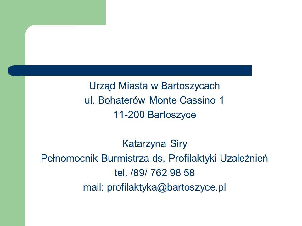 Urząd Miasta w Bartoszycach ul. Bohaterów Monte Cassino 1